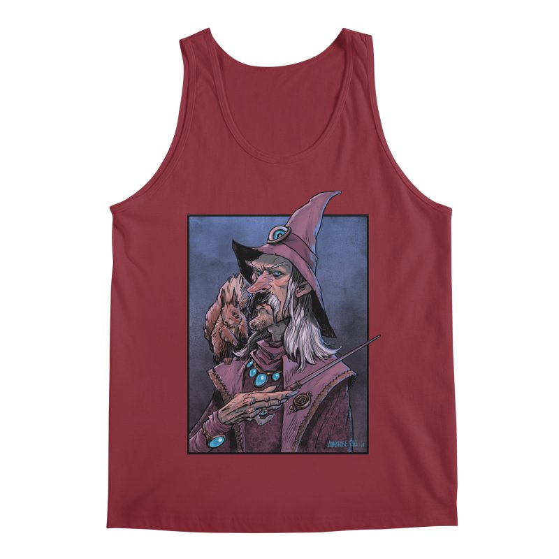 Wizard with Squirrel Men's Tank by Ambrose H.H.'s Artist Shop