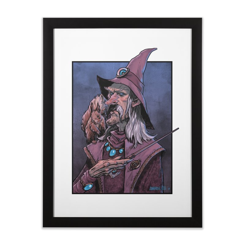 Wizard with Squirrel Home Framed Fine Art Print by Ambrose H.H.'s Artist Shop