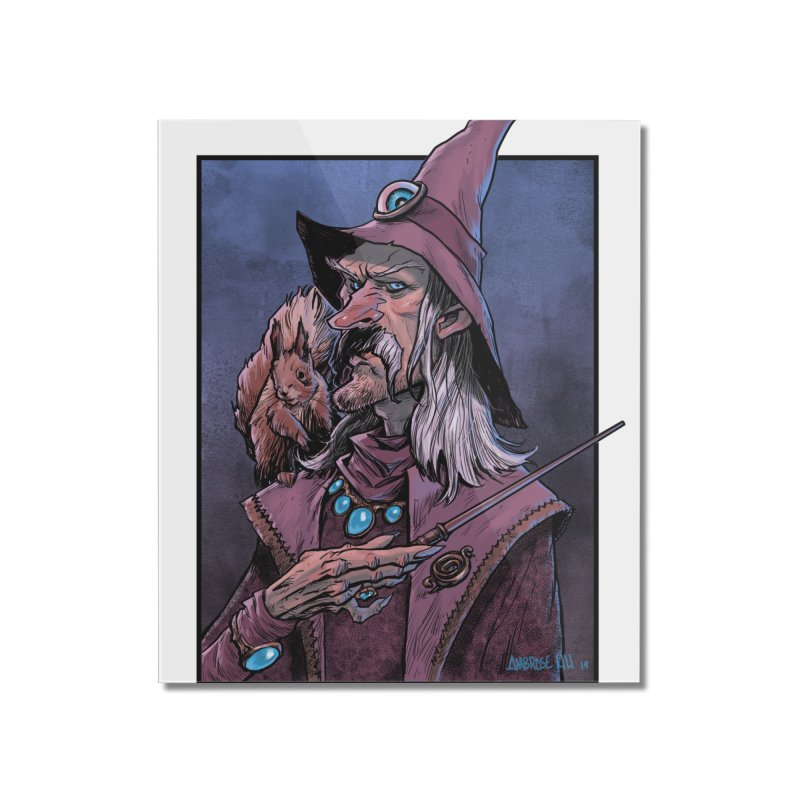 Wizard with Squirrel Home Mounted Acrylic Print by Ambrose H.H.'s Artist Shop