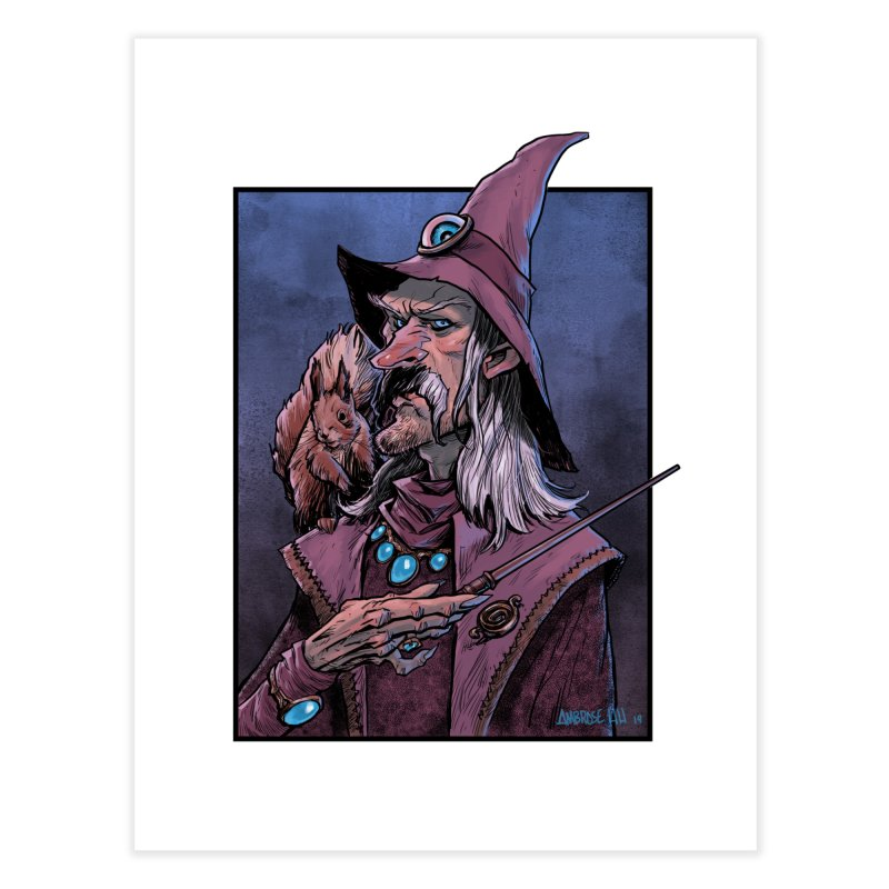 Wizard with Squirrel Home Fine Art Print by Ambrose H.H.'s Artist Shop