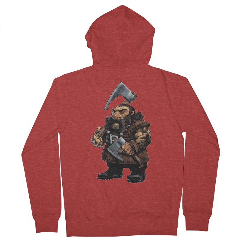 Axe Master Women's French Terry Zip-Up Hoody by Ambrose H.H.'s Artist Shop