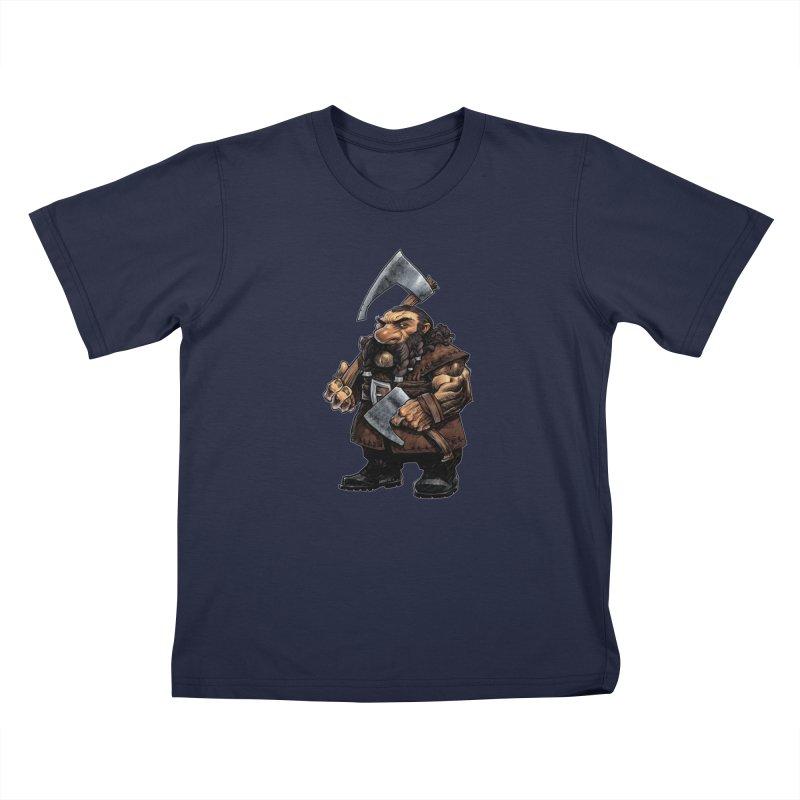 Axe Master Kids T-Shirt by Ambrose H.H.'s Artist Shop