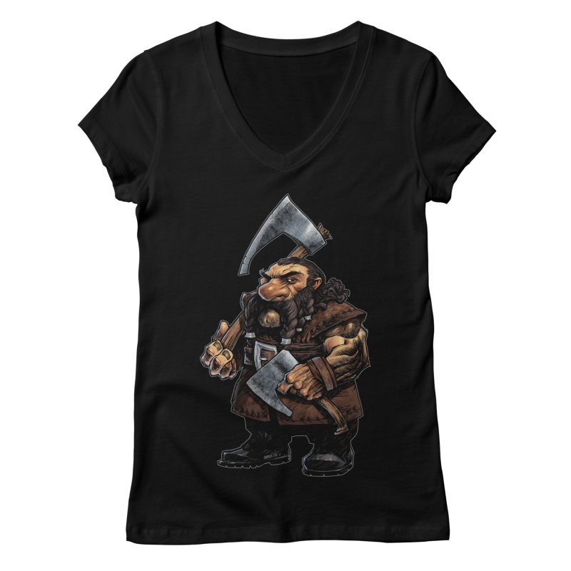 Axe Master Women's V-Neck by Ambrose H.H.'s Artist Shop
