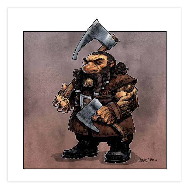 Axe Master Home Fine Art Print by Ambrose H.H.'s Artist Shop