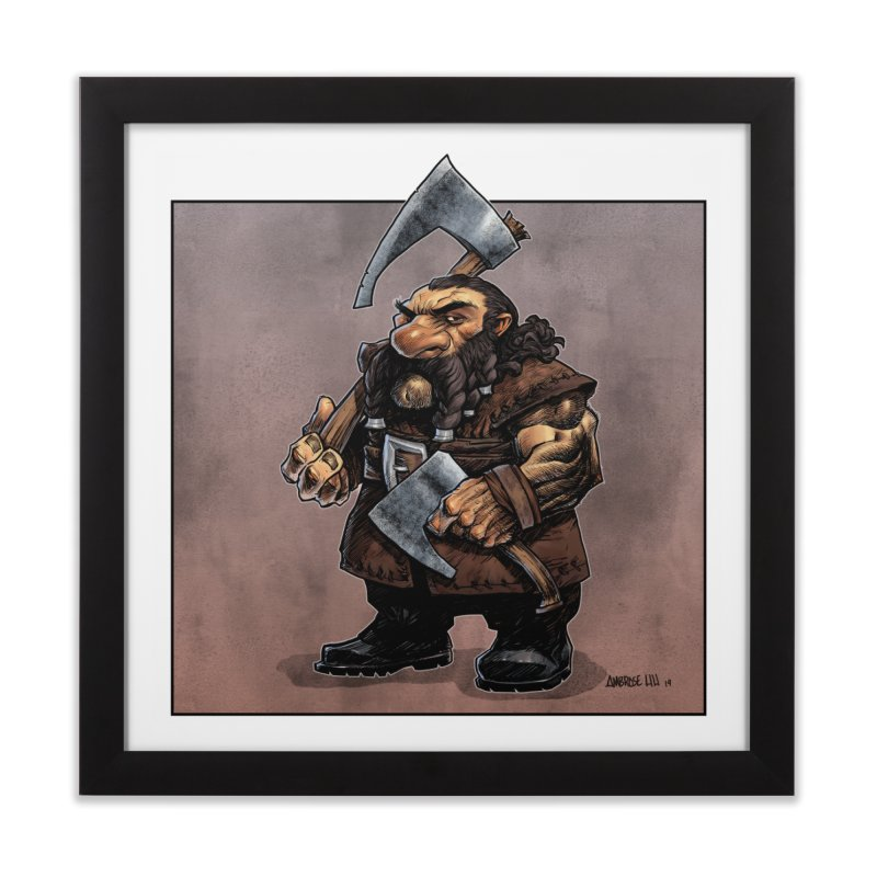 Axe Master Home Framed Fine Art Print by Ambrose H.H.'s Artist Shop