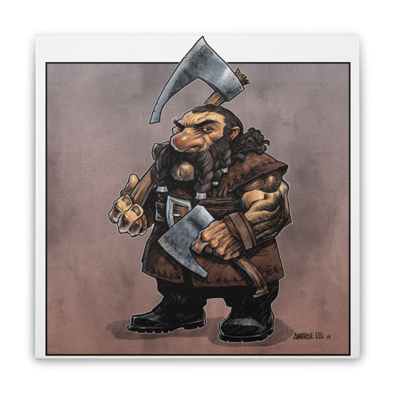 Axe Master Home Stretched Canvas by Ambrose H.H.'s Artist Shop