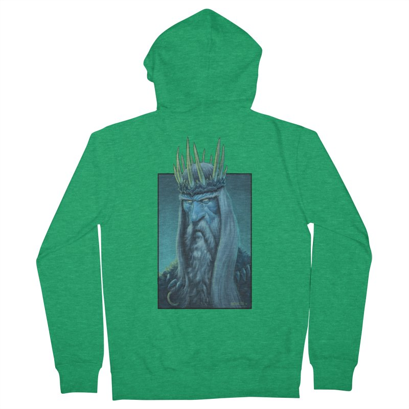 King of Madness Men's Zip-Up Hoody by Ambrose H.H.'s Artist Shop
