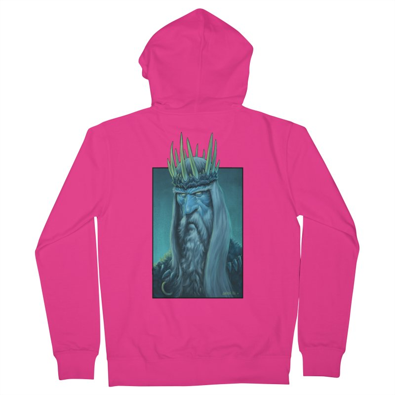 King of Madness Men's French Terry Zip-Up Hoody by Ambrose H.H.'s Artist Shop