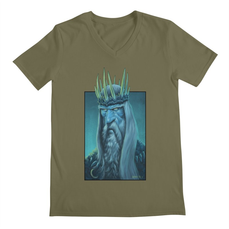 King of Madness Men's V-Neck by Ambrose H.H.'s Artist Shop
