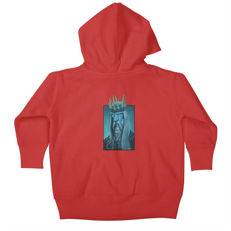 King of Madness Kids Baby Zip-Up Hoody by Ambrose H.H.'s Artist Shop