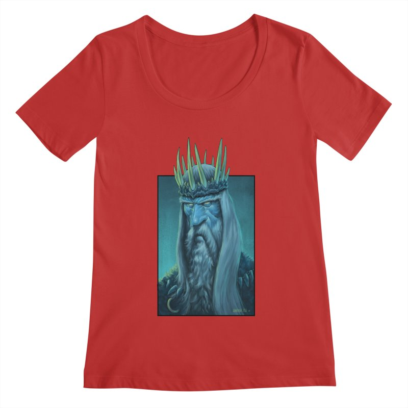 King of Madness Women's Regular Scoop Neck by Ambrose H.H.'s Artist Shop