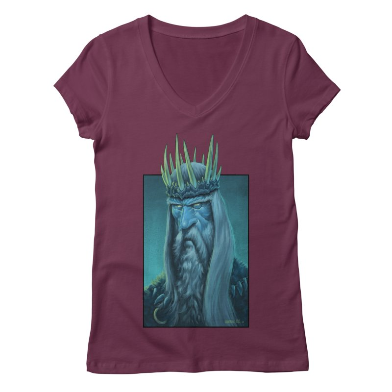 King of Madness Women's V-Neck by Ambrose H.H.'s Artist Shop