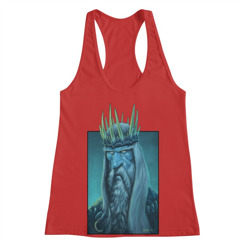 King of Madness Women's Racerback Tank by Ambrose H.H.'s Artist Shop