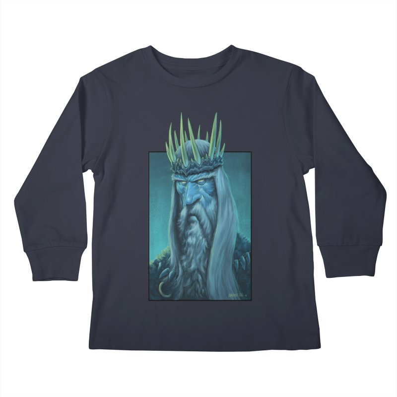 King of Madness Kids Longsleeve T-Shirt by Ambrose H.H.'s Artist Shop