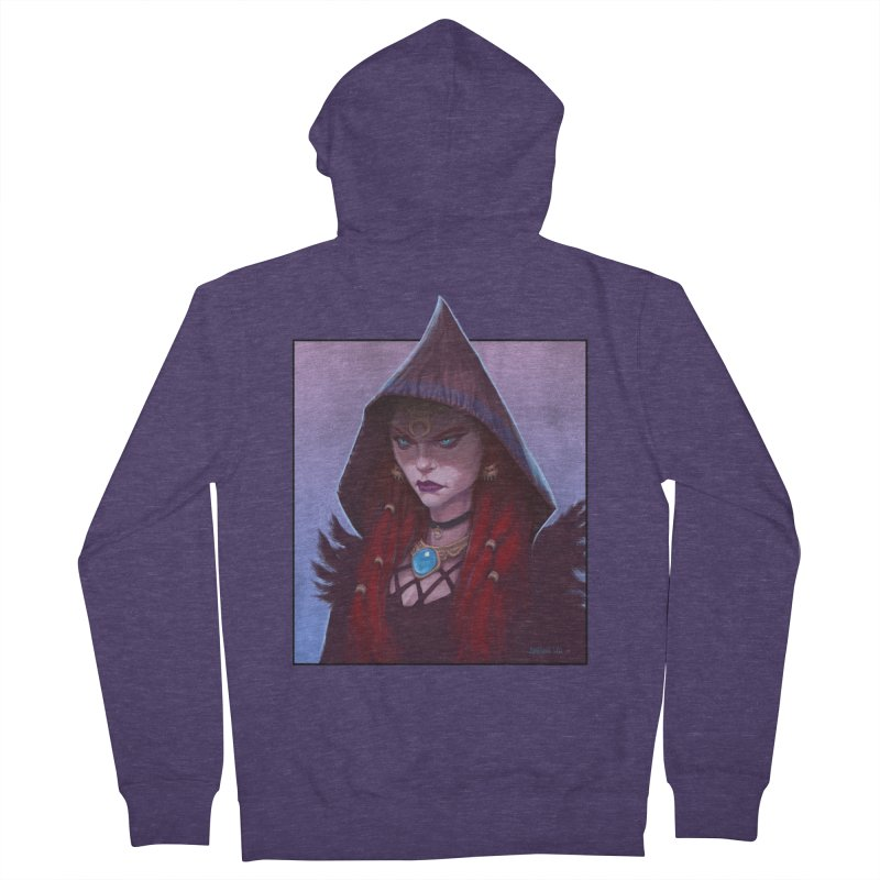 The Priestess Men's French Terry Zip-Up Hoody by Ambrose H.H.'s Artist Shop