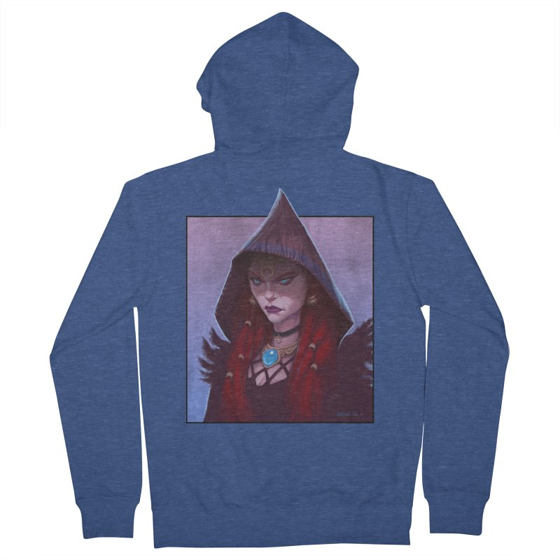 The Priestess Men's Zip-Up Hoody by Ambrose H.H.'s Artist Shop