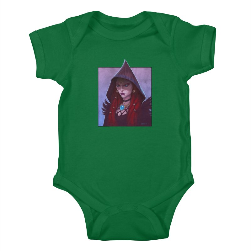 The Priestess Kids Baby Bodysuit by Ambrose H.H.'s Artist Shop