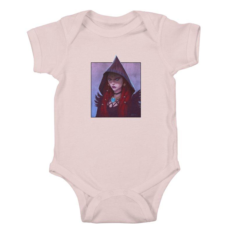 The Priestess Kids Baby Bodysuit by Ambrose H.H.'s Artist Shop