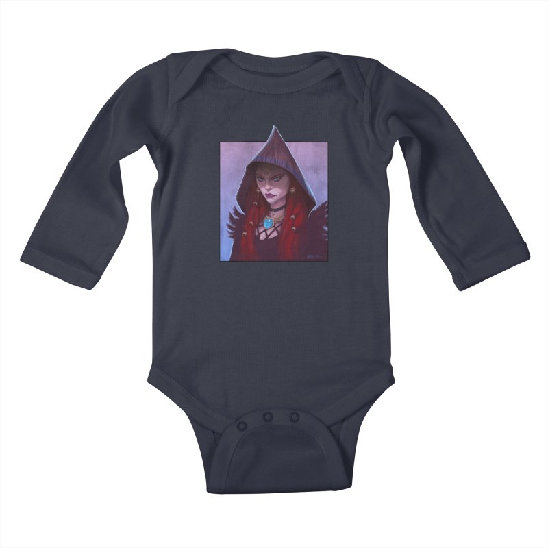 The Priestess Kids Baby Longsleeve Bodysuit by Ambrose H.H.'s Artist Shop