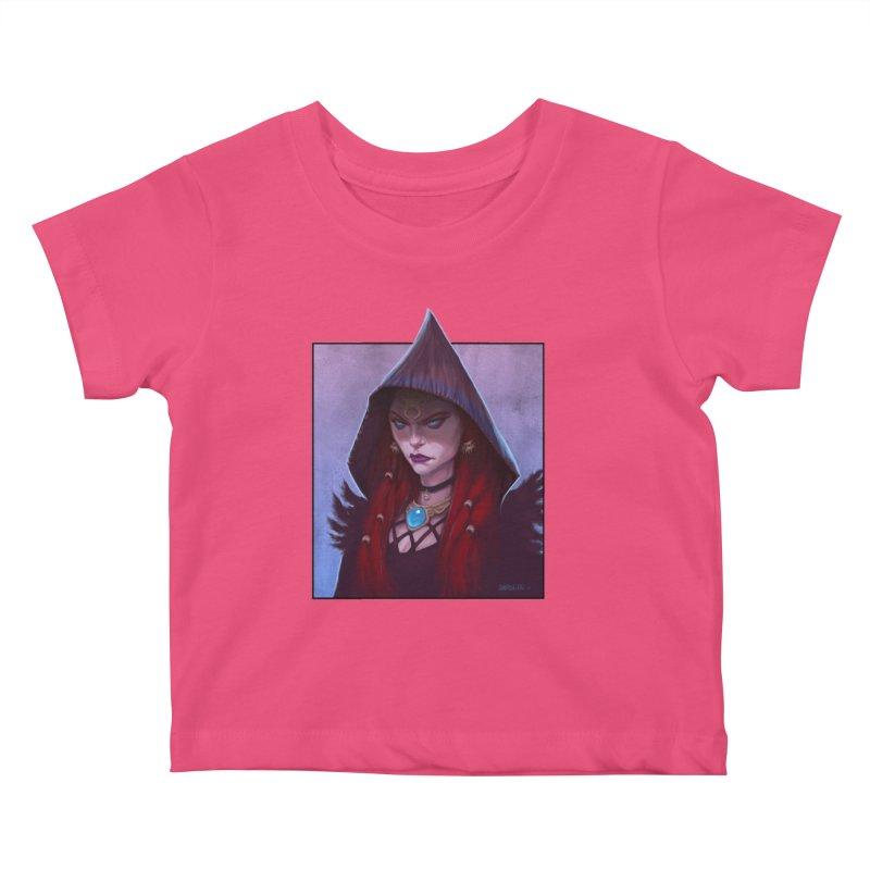 The Priestess Kids Baby T-Shirt by Ambrose H.H.'s Artist Shop