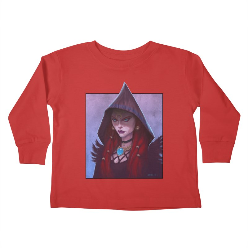 The Priestess Kids Toddler Longsleeve T-Shirt by Ambrose H.H.'s Artist Shop