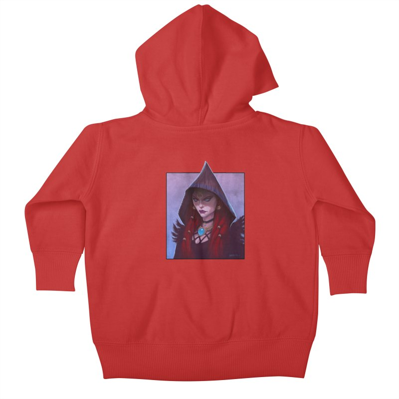 The Priestess Kids Baby Zip-Up Hoody by Ambrose H.H.'s Artist Shop