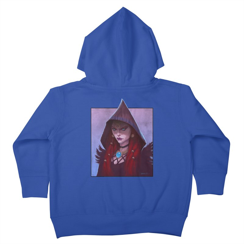 The Priestess Kids Toddler Zip-Up Hoody by Ambrose H.H.'s Artist Shop
