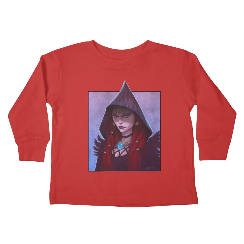 The Priestess Kids Toddler Longsleeve T-Shirt by Ambrose H.H.'s Artist Shop