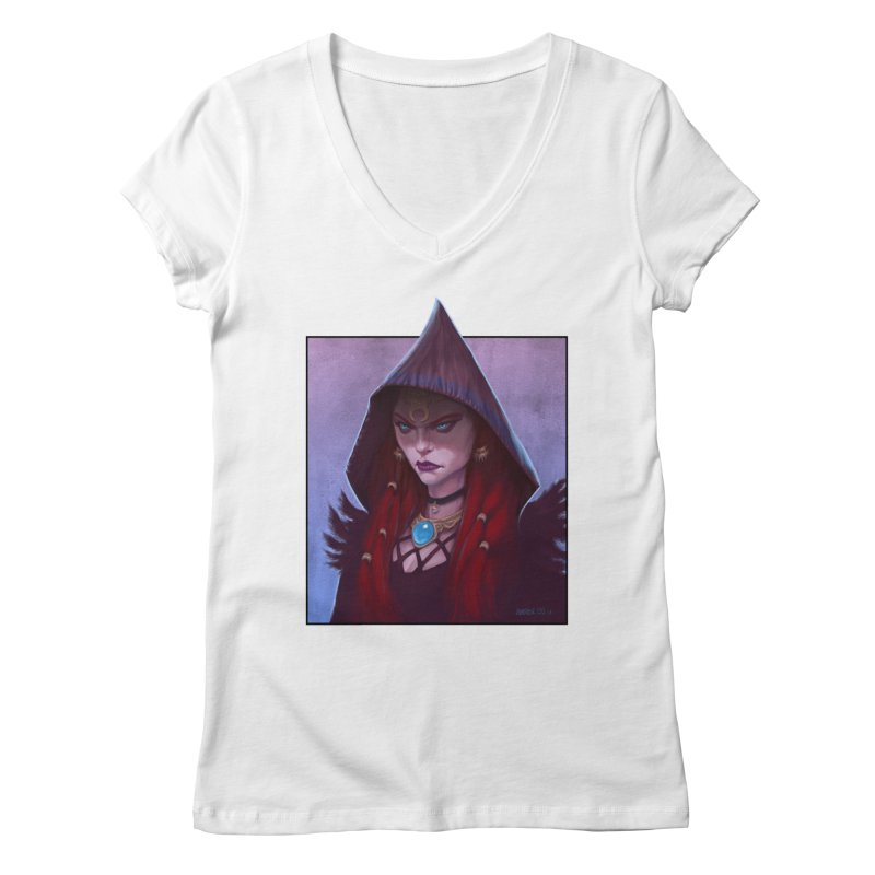 The Priestess Women's V-Neck by Ambrose H.H.'s Artist Shop