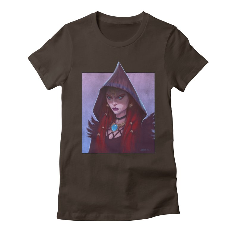 The Priestess Women's Fitted T-Shirt by Ambrose H.H.'s Artist Shop
