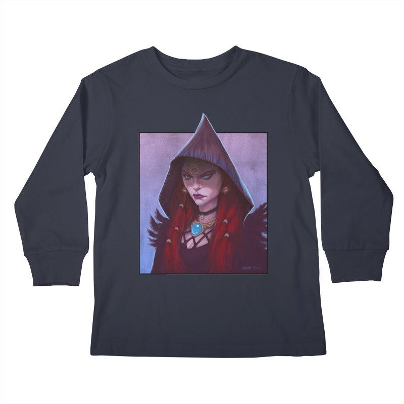 The Priestess Kids Longsleeve T-Shirt by Ambrose H.H.'s Artist Shop