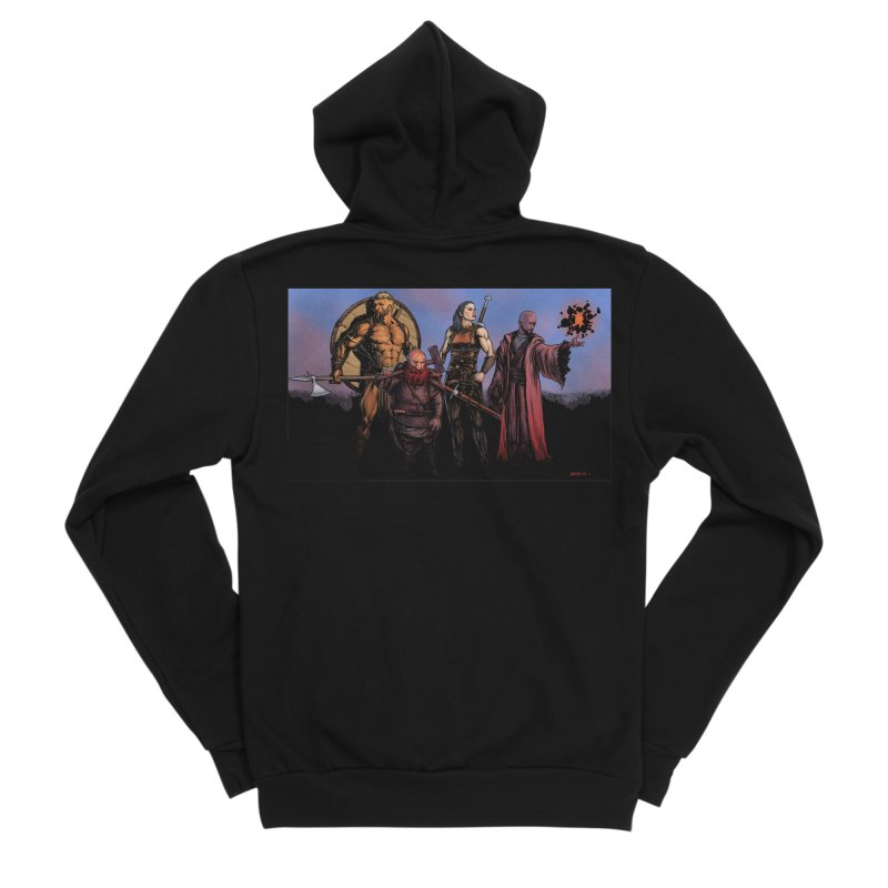 Adventurers Men's Zip-Up Hoody by Ambrose H.H.'s Artist Shop
