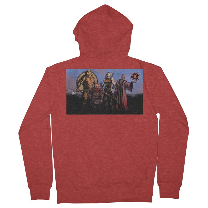 Adventurers Women's French Terry Zip-Up Hoody by Ambrose H.H.'s Artist Shop