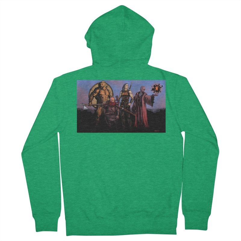 Adventurers Men's French Terry Zip-Up Hoody by Ambrose H.H.'s Artist Shop