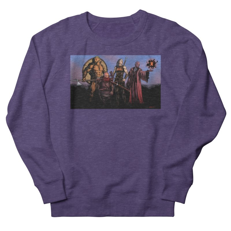Adventurers Men's French Terry Sweatshirt by Ambrose H.H.'s Artist Shop