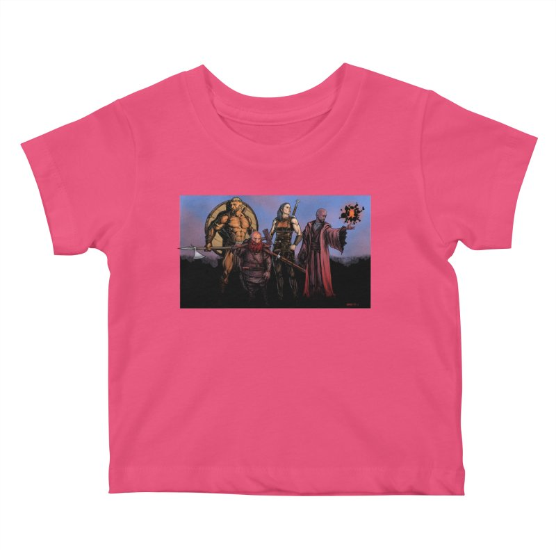 Adventurers Kids Baby T-Shirt by Ambrose H.H.'s Artist Shop