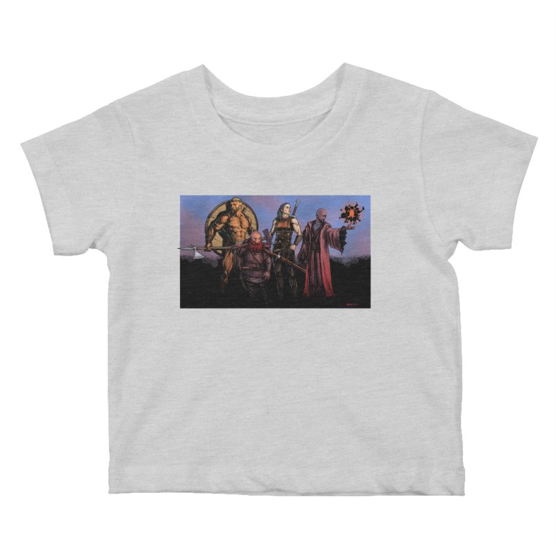 Adventurers Kids Baby T-Shirt by Ambrose H.H.'s Artist Shop