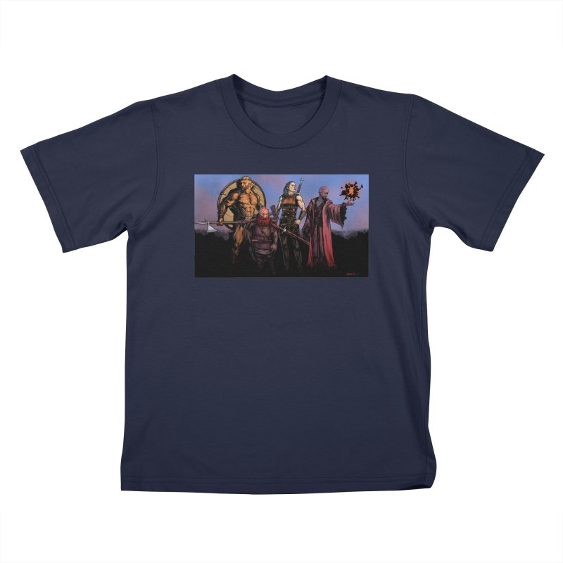 Adventurers Kids T-Shirt by Ambrose H.H.'s Artist Shop