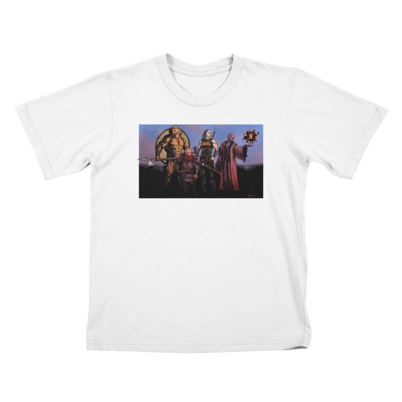 Adventurers Kids T-Shirt by Ambrose H.H.'s Artist Shop