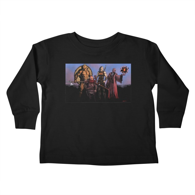 Adventurers Kids Toddler Longsleeve T-Shirt by Ambrose H.H.'s Artist Shop