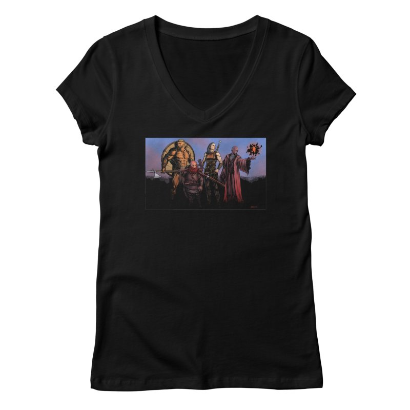 Adventurers Women's V-Neck by Ambrose H.H.'s Artist Shop