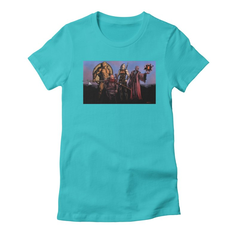 Adventurers Women's Fitted T-Shirt by Ambrose H.H.'s Artist Shop