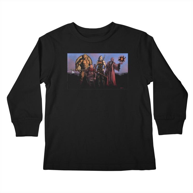 Adventurers Kids Longsleeve T-Shirt by Ambrose H.H.'s Artist Shop