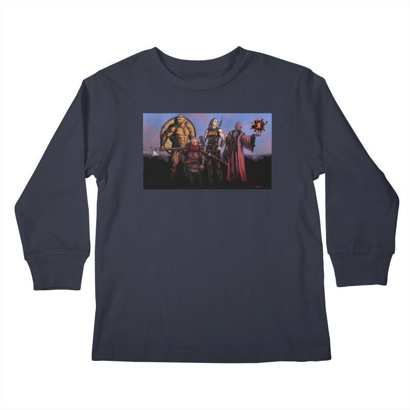 Adventurers Kids Longsleeve T-Shirt by Ambrose H.H.'s Artist Shop