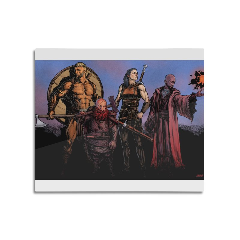 Adventurers Home Mounted Aluminum Print by Ambrose H.H.'s Artist Shop