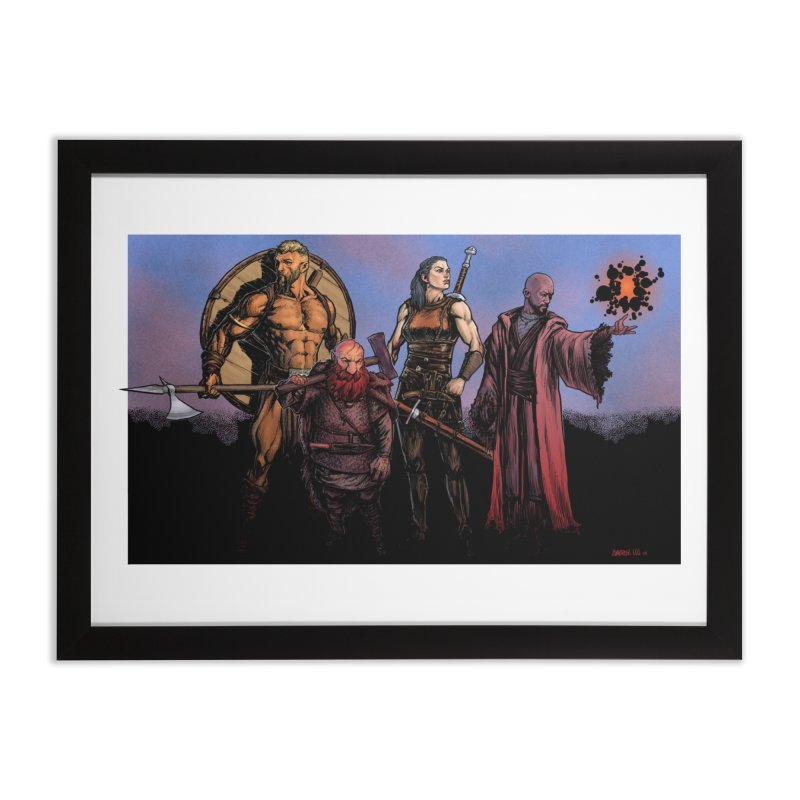 Adventurers Home Framed Fine Art Print by Ambrose H.H.'s Artist Shop