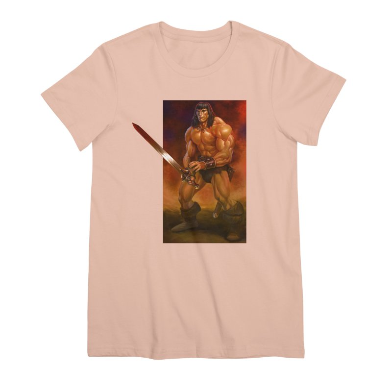 The Barbarian Women's Premium T-Shirt by Ambrose H.H.'s Artist Shop
