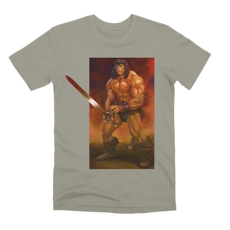 The Barbarian Men's Premium T-Shirt by Ambrose H.H.'s Artist Shop