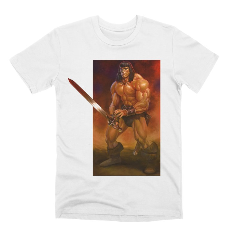 The Barbarian Men's Premium T-Shirt by Ambrose H.H.'s Artist Shop