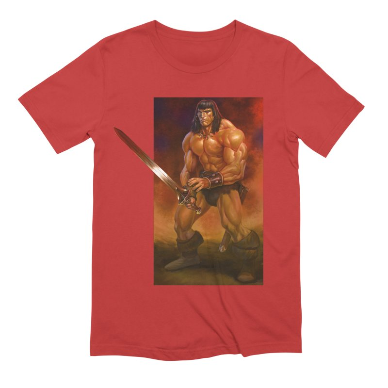 The Barbarian Men's Extra Soft T-Shirt by Ambrose H.H.'s Artist Shop